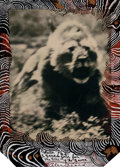 Photographs:Contemporary, Peter Beard (American, b. 1938). Ndulu, S. Serengeti for the endof the game, 1976. Polaroid with hand-painting. 5-3/4 x...