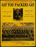 Football Collectibles:Others, 1931 Green Bay Packers Original Sheet Music - Go! You Packers Go!...