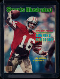 Football Collectibles:Publications, 1982 Sports Illustrated Joe Montana Cover - First Montana Cover. ...