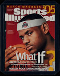 Basketball Collectibles:Publications, 2005 Sports Illustrated On Campus LeBron James - Only LeBron On Campus SI Cover!...