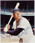 "Autographs:Photos, Mickey Mantle Signed and Inscribed ""No. 7"" Oversized Photograph...."