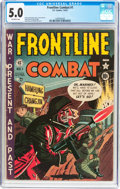 Golden Age (1938-1955):War, Frontline Combat #1 (EC, 1951) CGC VG/FN 5.0 Off-white pages....