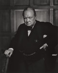 Photographs:Gelatin Silver, Yousuf Karsh (Canadian, 1908-2002). Winston Churchill, 1941.Gelatin silver, printed later. 19-3/4 x 15-3/4 inches (50.2...
