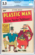 Golden Age (1938-1955):Superhero, Plastic Man #nn (#2) (Quality, 1944) CGC VG- 3.5 Cream to off-whitepages....