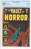 Golden Age (1938-1955):Horror, Vault of Horror #37 (EC, 1954) CBCS FN- 5.5 Off-white to whitepages....