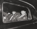 Photographs:Gelatin Silver, Weegee (American, 1899-1968). Toots Shor and Mark Hellinger in Limo Out on the Town, 1940s. Gelatin silver. 7-1/4 x 9-1/...