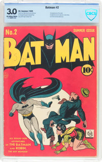 Batman #2 (DC, 1940) CBCS GD/VG 3.0 Off-white to white pages