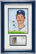 Autographs:Others, Don Mattingly First Day Cover and Original Artwork by Susan RiniDisplay....