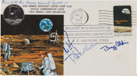 Apollo 11 Flown Crew-Signed Quarantine Cover, C-2, Originally from the Personal Collection of Mission Command Module Pil...