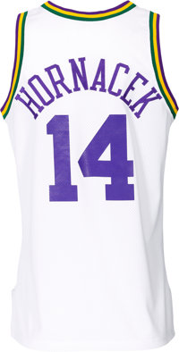 on sale 53c78 88c4d 1993-94 Jeff Hornacek Game Worn Utah Jazz Jersey ...