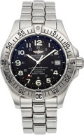 Timepieces:Wristwatch, Breitling SuperOcean Stainless Steel Automatic Chronometer A17360. ...