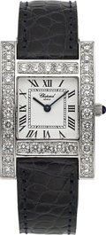 "Timepieces:Wristwatch, Chopard ""Your Hour"" 18K White Gold & Diamond Lady's Wristwatch...."
