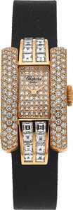Timepieces:Wristwatch, Chopard La Strada 18K Gold & Diamond Exquisite Lady'sWristwatch. ...