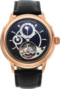 Timepieces:Wristwatch, Frederique Constant Manufacture Tourbillon 18k Rose Gold Moonphase,Date, 24 Hour Indicator, Silicium Limited Edition Wristwat...