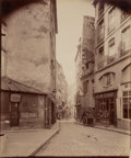 Photographs:Albumen, Eugène Atget (French, 1857-1927). Rue du Sabot and Rue dela Montagne Ste-Geneviève (two photographs), 1900; 1899. A...(Total: 2 Items)