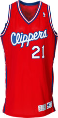Basketball Collectibles:Uniforms, 1993-94 Dominique Wilkins Game Worn Los Angeles Clippers Jersey....