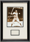 Autographs:Others, Hank Greenberg Framed Cut Autograph Display. ...