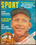 """Baseball Collectibles:Publications, Mickey Mantle Signed """"Sport"""" Magazine...."""