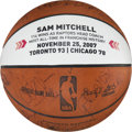 Basketball Collectibles:Balls, 2007 Toronto Raptors Team Signed Game Used Basketball Presented to Head Coach Sam Mitchell....