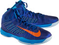 Basketball Collectibles:Others, 2012 Tyson Chandler Game Worn New York Knicks Sneakers....