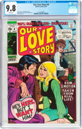 Bronze Age (1970-1979):Romance, Our Love Story #6 (Marvel, 1970) CGC NM/MT 9.8 White pages....