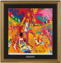 Basketball Collectibles:Others, 1976 Burger King Olympic Basketball LeRoy Neiman Signed Poster. ...