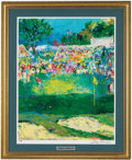 Golf Collectibles:Autographs, LeRoy Neiman Bethpage Black Course 2002 U.S. Open Signed PosterPrint. ...