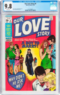 Bronze Age (1970-1979):Romance, Our Love Story #8 (Marvel, 1970) CGC NM/MT 9.8 White pages....