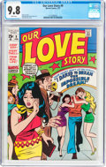 Bronze Age (1970-1979):Romance, Our Love Story #9 (Marvel, 1971) CGC NM/MT 9.8 White pages....