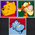 Non-Sport Cards:Other, 1997 Disney Prints Lot of 3 - Tigger, Winnie the Pooh &Aladdin. ...