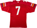 Football Collectibles:Uniforms, Early 1980's Boomer Esiason Practice Worn Maryland Terrapins Jersey....