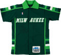 Basketball Collectibles:Uniforms, 1987 Craig Hodges Game Worn, Signed Milwaukee Bucks Shooting Jacketand Pants - With Rare Patch....