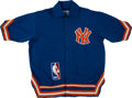 Basketball Collectibles:Uniforms, 1986 Cozell McQueen Game Issued New York Knicks Warmup Jacket andPants....