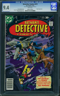 Detective Comics #473 - FROM THE COLLECTION OF PHIL KALTENBACH (DC, 1977) CGC NM 9.4 White pages