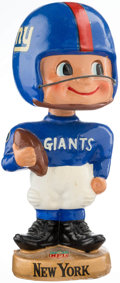 Football Collectibles:Others, 1961-66 New York Giants Toes Up Gold Base Nodder. ...
