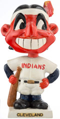 Baseball Collectibles:Others, 1961-63 Cleveland Indians White Base Nodder. ...