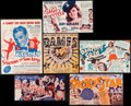 "Movie Posters:Musical, Dames & Others Lot (Warner Brothers, 1934). Heralds (11)(Unfolded: 4"" X 13.75"" - 9"" X 13""). DS. Musical.. ... (Total: 11Items)"