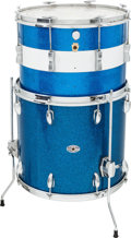 Musical Instruments:Drums & Percussion, 1960s Ludwig/Slingerland Blue Sparkle Drums....
