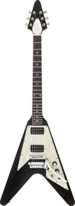 Musical Instruments:Electric Guitars, 1997 Gibson Flying V Black Solid Body Electric Guitar, Serial #92337794....