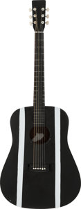 Musical Instruments:Acoustic Guitars, Circa 1980s Unknown Brand Black Acoustic Guitar....