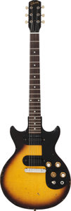 Musical Instruments:Electric Guitars, 1962 Gibson Melody Maker Sunburst Solid Body Electric Guitar,Serial #92492....