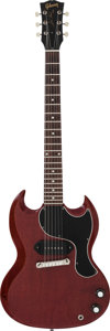 Musical Instruments:Electric Guitars, 1963 Gibson SG Junior Cherry Solid Body Electric Guitar, Serial#17771....