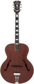 Musical Instruments:Acoustic Guitars, Circa 1939 D'Angelico Style B Red Archtop Acoustic Guitar, Serial#1467....
