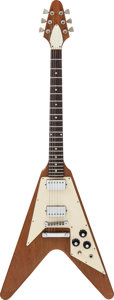 Musical Instruments:Electric Guitars, 1975 Gibson Flying V Natural Solid Body Electric Guitar, Serial#534454....