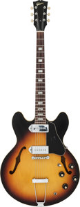 Musical Instruments:Electric Guitars, Circa 1965/66 Gibson ES-330 Sunburst Semi-Hollow Body ElectricGuitar, Serial #350695....