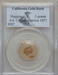 Nuggets, 1857 S.S. Central America Gold Nuggets PCGS. 0.5 gm....