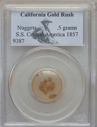 1857 S.S. Central America Gold Nuggets PCGS. 0.5 gm