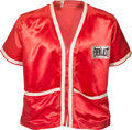 Boxing Collectibles:Memorabilia, 1982 Larry Holmes Cornerman Shirt Worn by Ray Arcel--Arcel's LastFight!...
