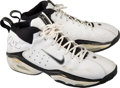 Basketball Collectibles:Others, 1999 Mitch Richmond Game Worn, Signed Washington WizardsSneakers....