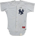 Baseball Collectibles:Uniforms, 1980's Don Mattingly Salesman's Sample New York Yankees Uniform. ...